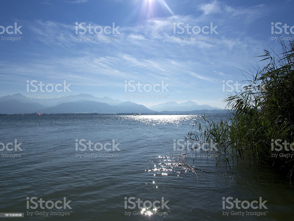 Lake Chiemsee royalty-free stock photo