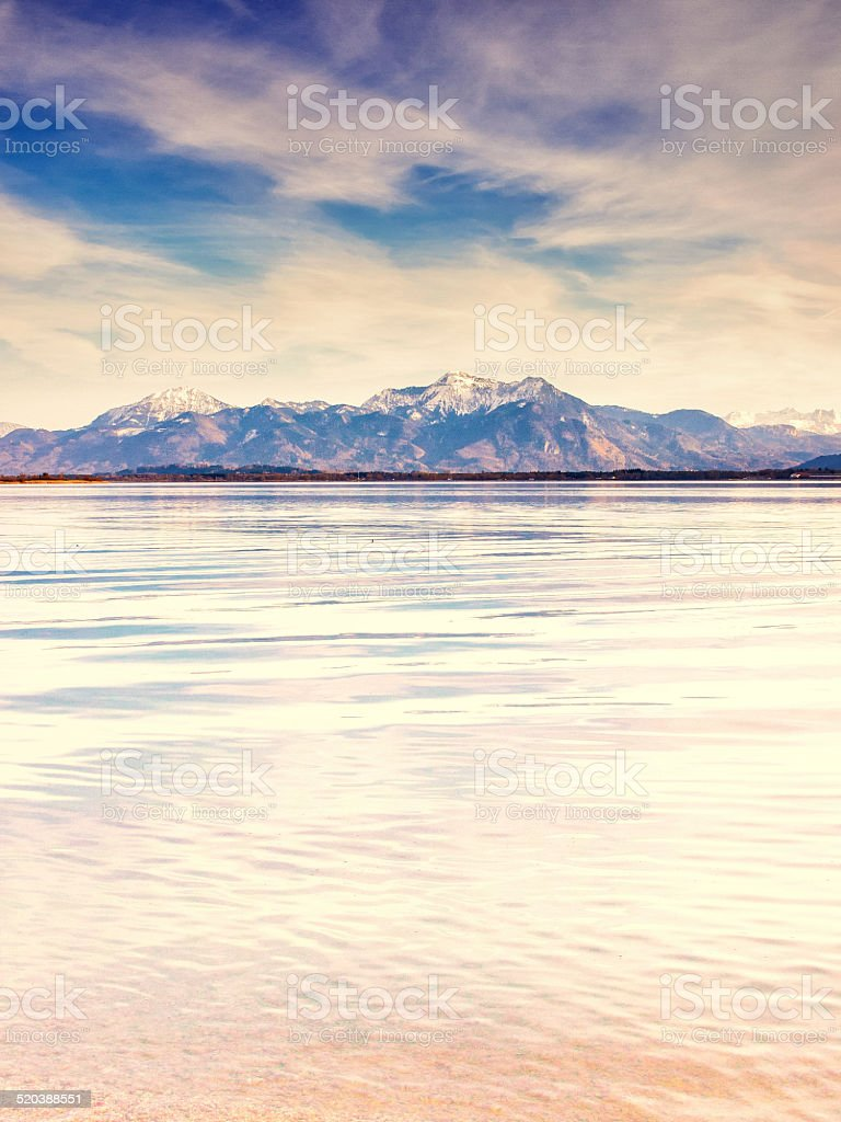 lake chiemsee stock photo