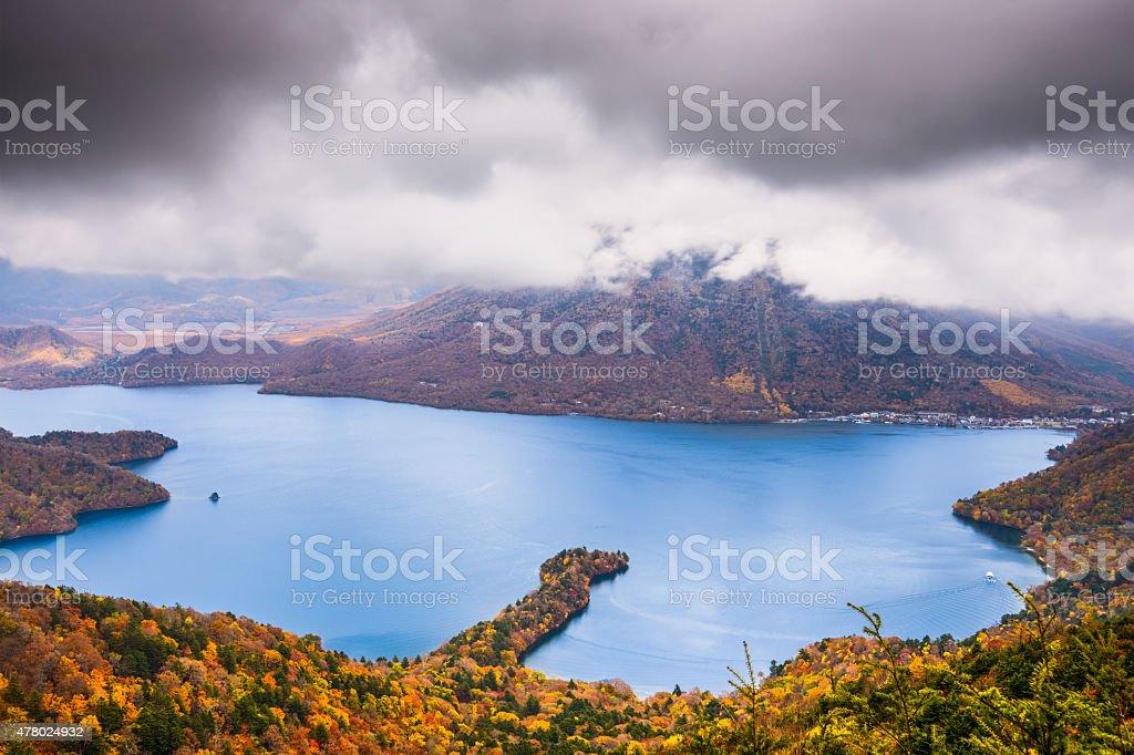 Lake Chuzenji in Japan stock photo