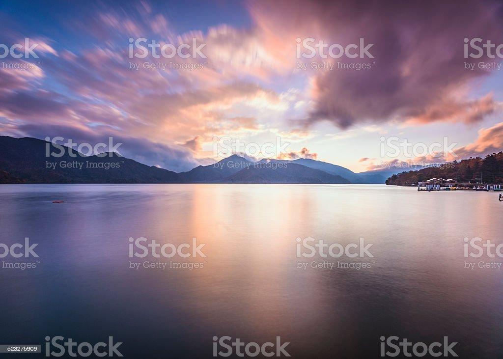 Lake Chuzenji in Nikko, Japan stock photo