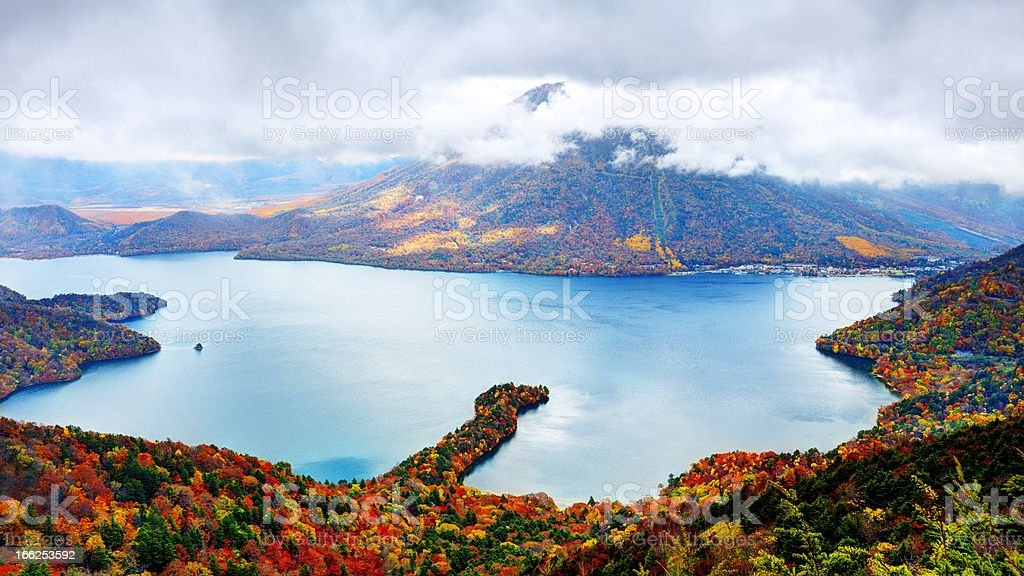 Lake Chuzenji stock photo