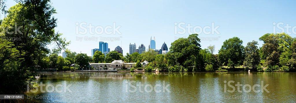 Lake Clara Meer in Piedmont Park Atlanta stock photo