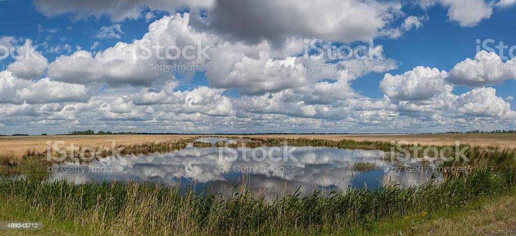 Lake Clouds. Panorama stock photo