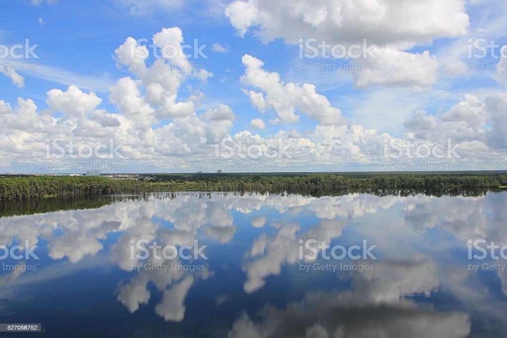 Lake Clouds stock photo