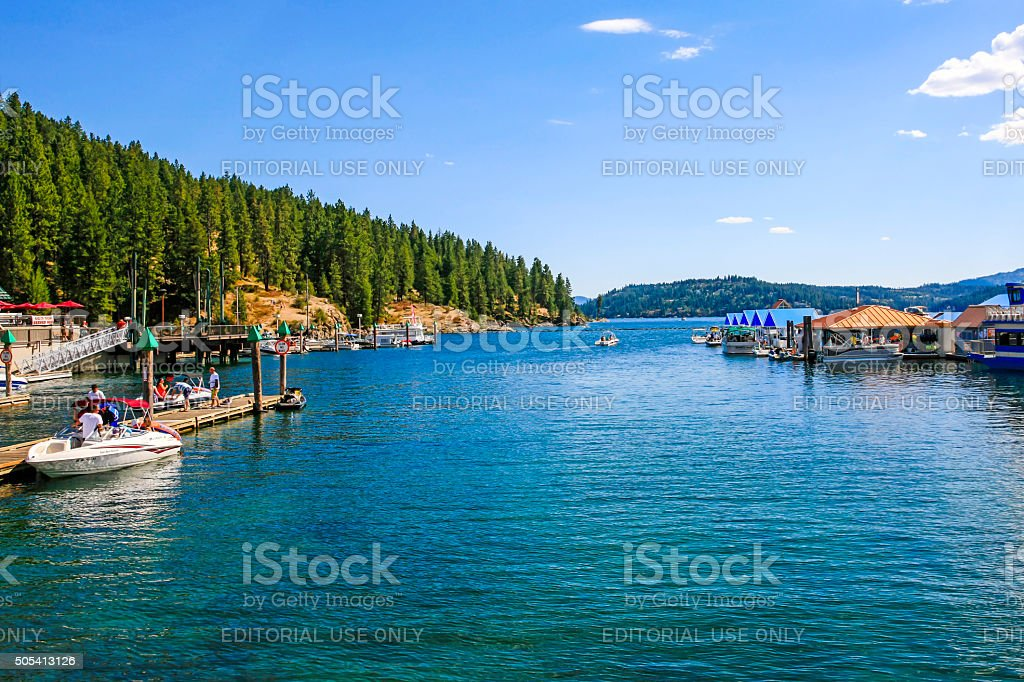 Lake Coeur d'Alene in Idaho stock photo