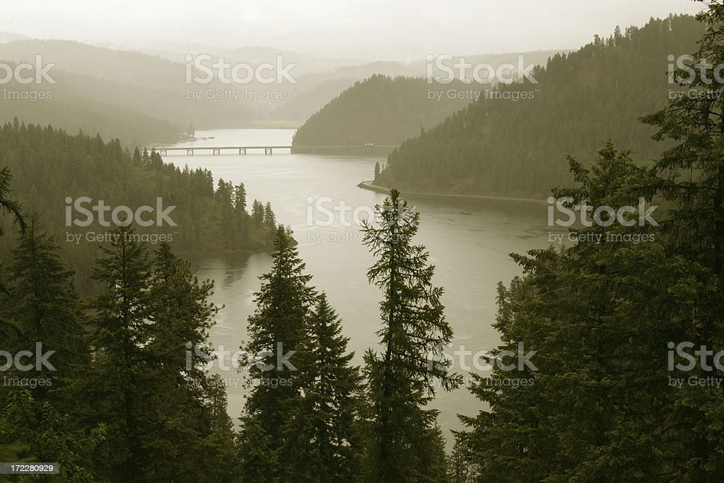 lake coeur d'alene stock photo