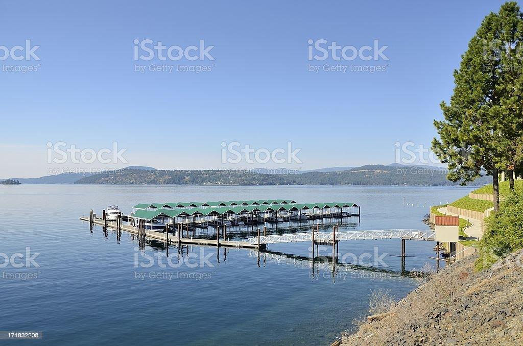 Lake Coeur d'Alene royalty-free stock photo