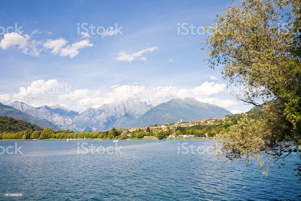Lake Como and Alps, Italy stock photo