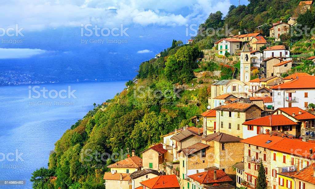 Lake Como, Milan, Italy stock photo