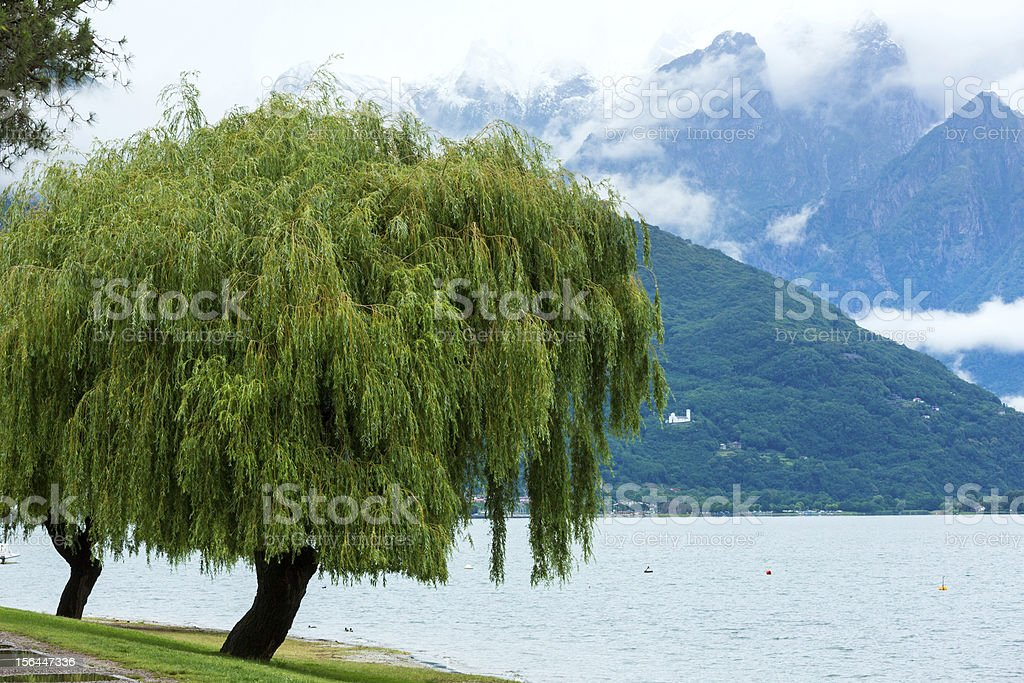 Lake Como (Italy) summer cloudy view royalty-free stock photo