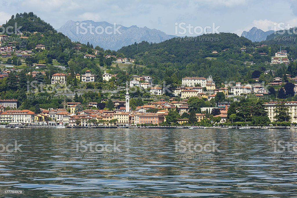 Lake Como (Italy) summer view royalty-free stock photo