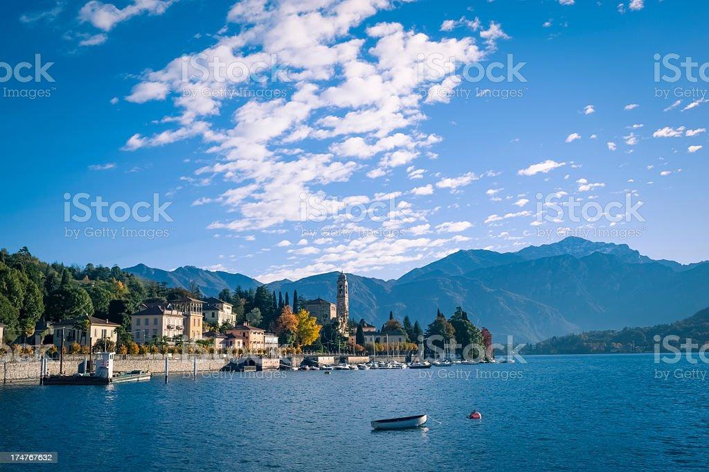 Lake Como Town, Italy stock photo