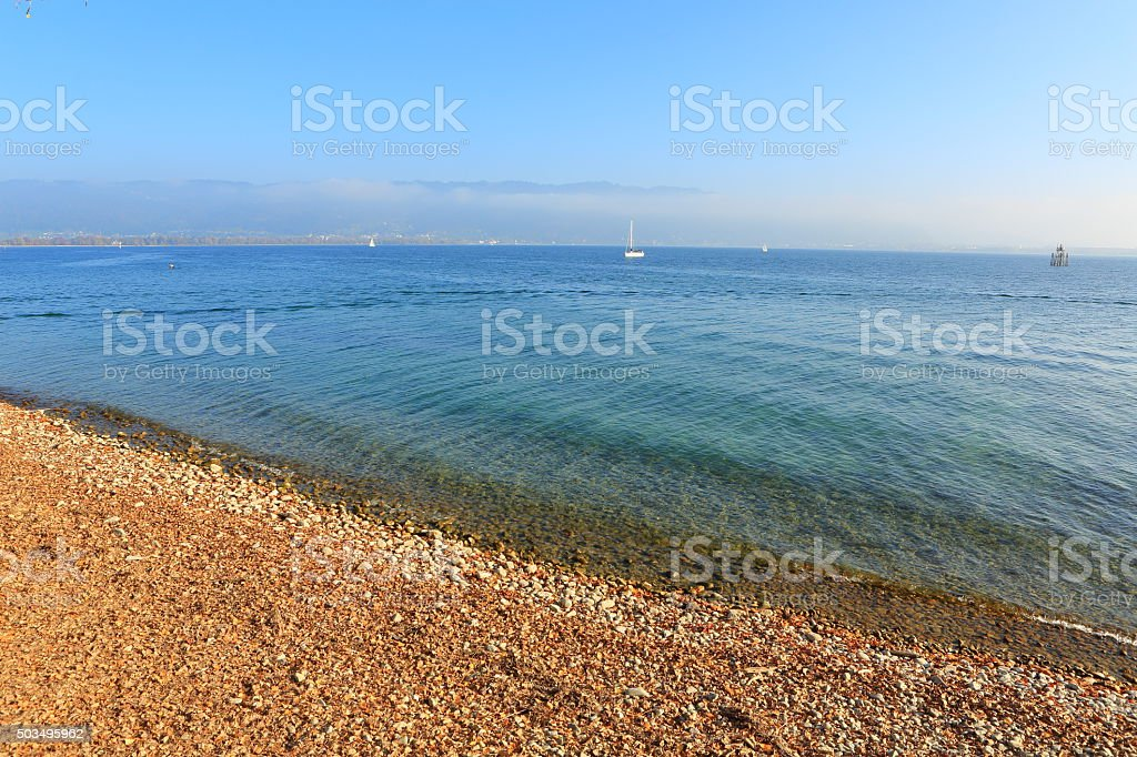 Lake Constance Border at Lindau stock photo