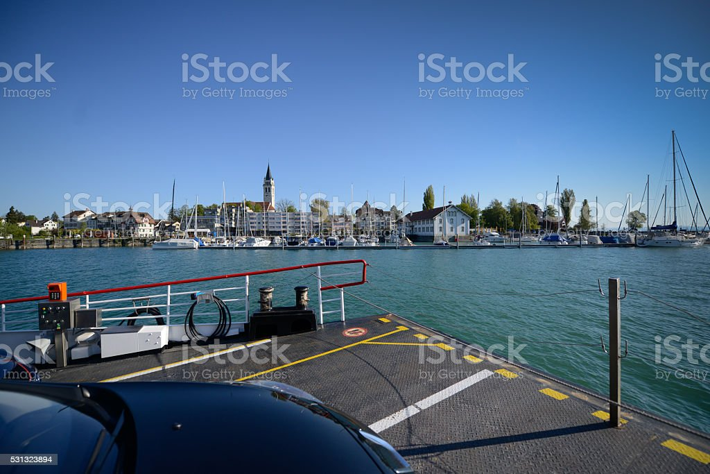 Bodensee - car ferry Romanshorn stock photo