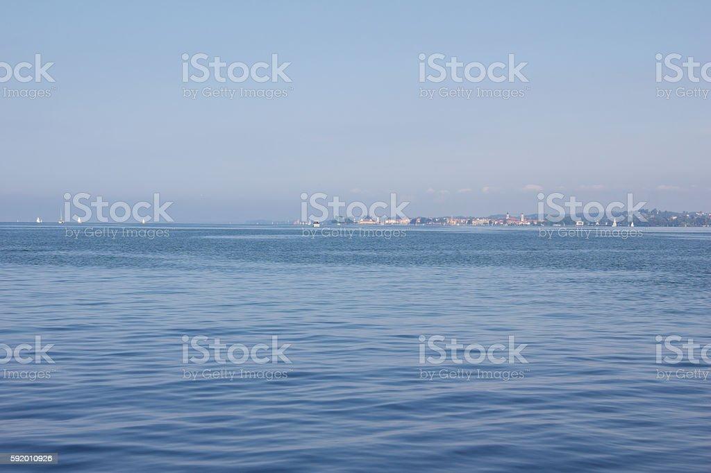 Lake Constance View In Vorarlberg Austria stock photo
