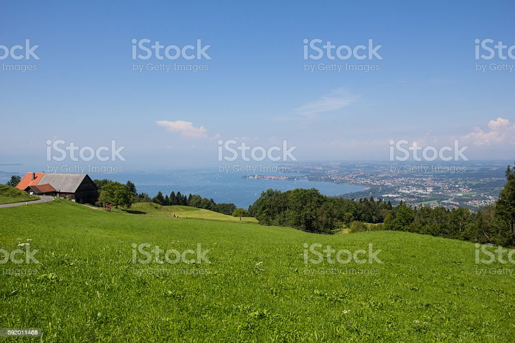 Lake Constance View In Vorarlberg Austria stock photo