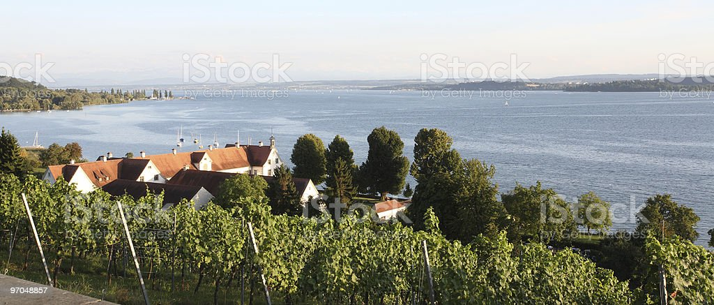 Lake Constance View of Birnau stock photo