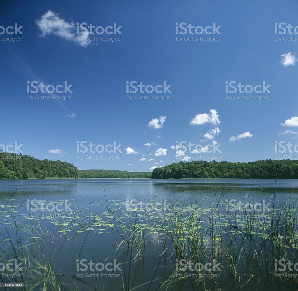 Lake Czajcze scenery royalty-free stock photo