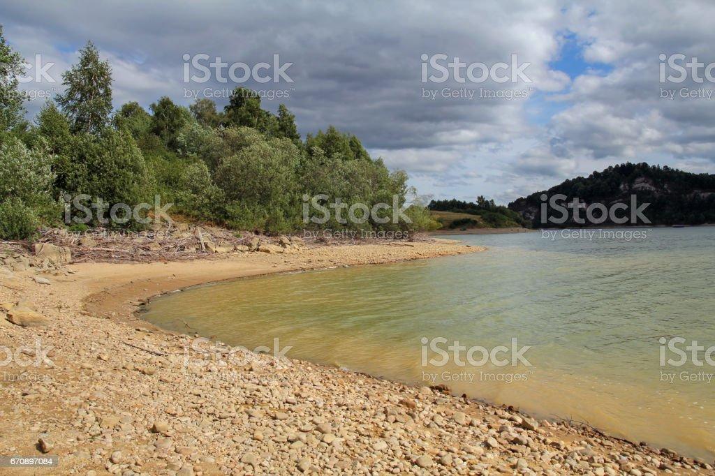 Lake Czorsztyn in southern Poland stock photo
