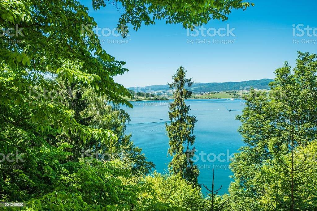 Lake Czorsztyn stock photo