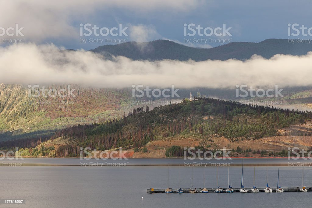 Lake Dillon in Colorado stock photo
