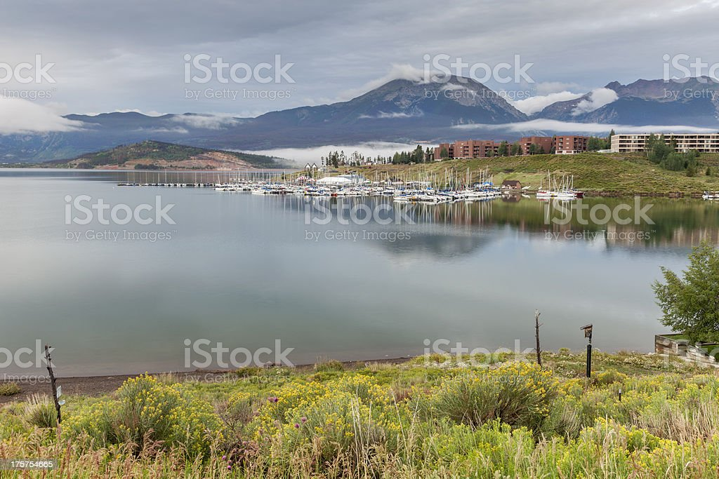 Lake Dillon marina stock photo