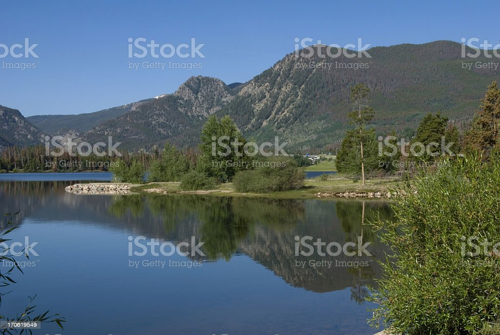 Lake Dillon Reservoir stock photo