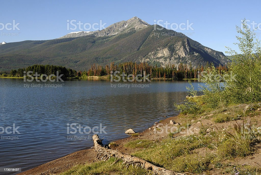 Lake Dillon Reservoir royalty-free stock photo