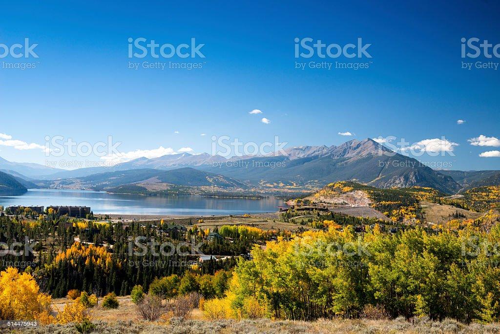 Lake Dillon, Summit County, Colorado in the Fall stock photo