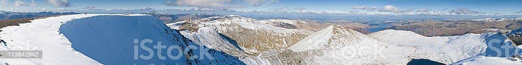 Lake District crisp winter mega mountain vista royalty-free stock photo