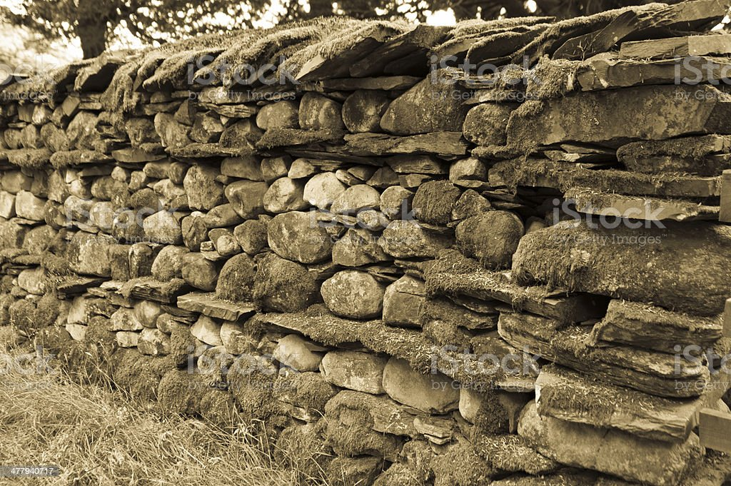 Lake District dry stone wall royalty-free stock photo