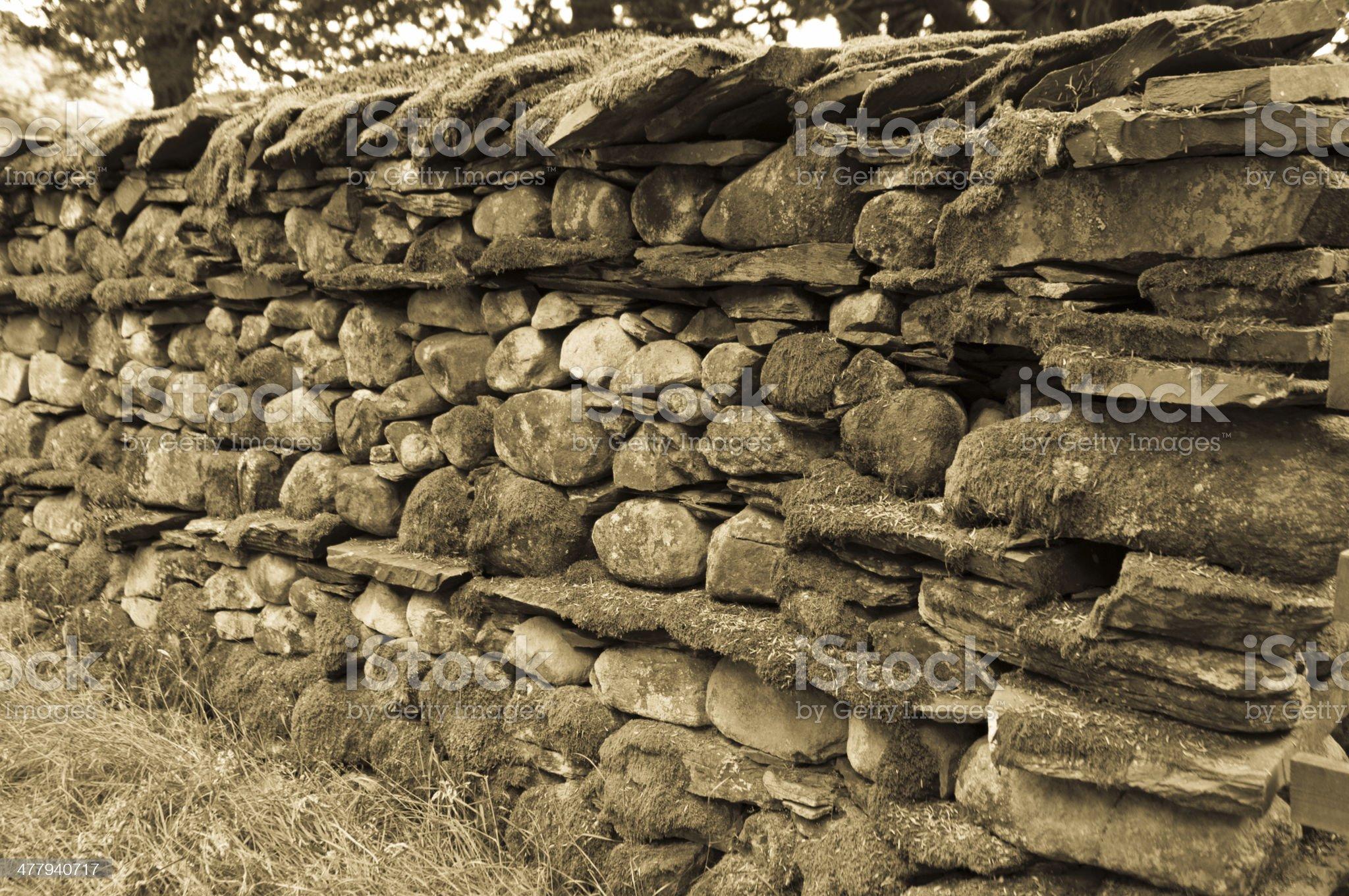 Lake District dry stone wall royalty-free stock photo