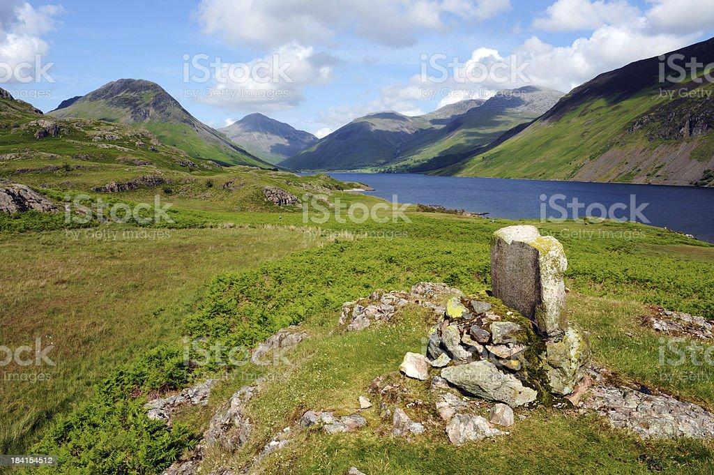 Lake District Huntsman memorial stock photo