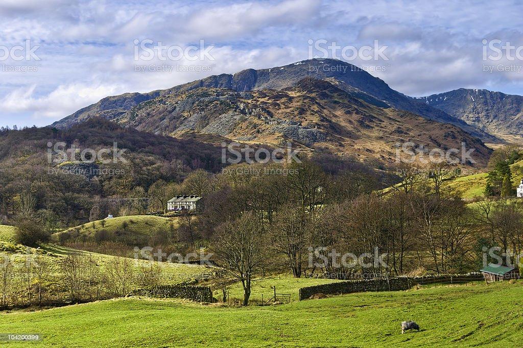 Lake District landscape stock photo
