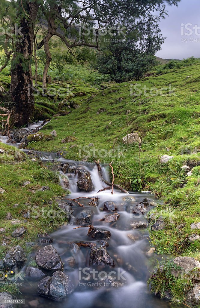 Lake District Mountain Stream stock photo