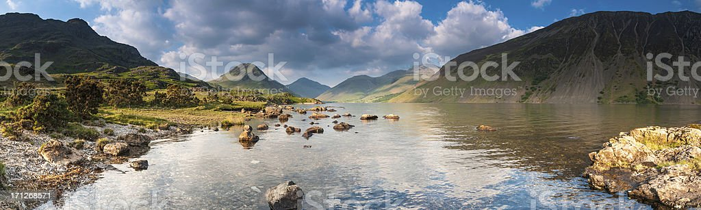 Lake District panorama Great Gable Scafell above Wastwater royalty-free stock photo
