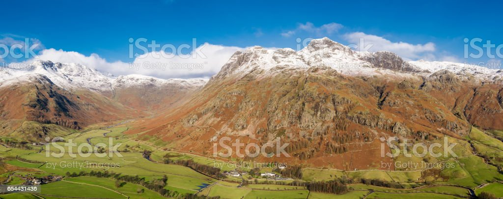 Lake District Panoramic View. stock photo