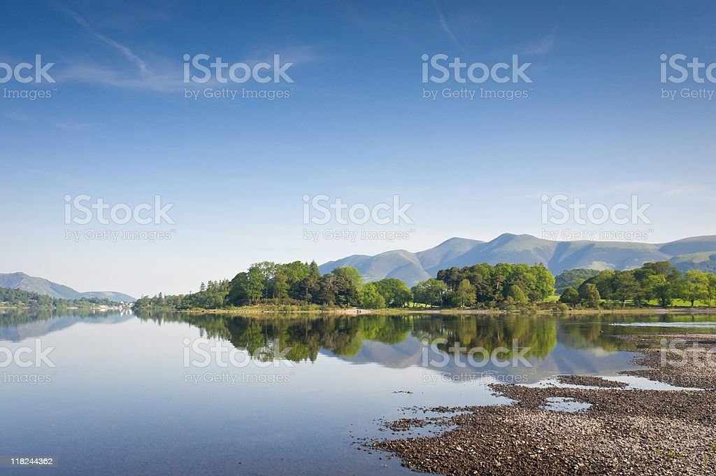 Lake District Reflections, UK royalty-free stock photo