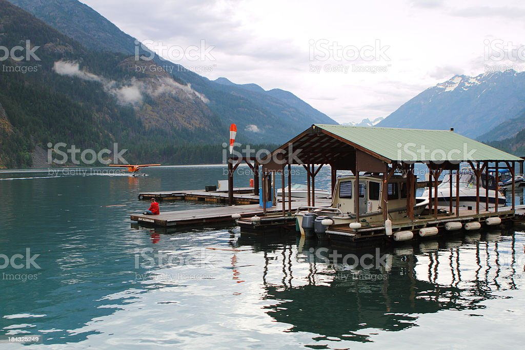 Lake dock royalty-free stock photo