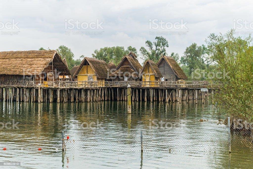 lake dwelling - Uhldingen-Mueldorf, Bodensee (Germany) stock photo