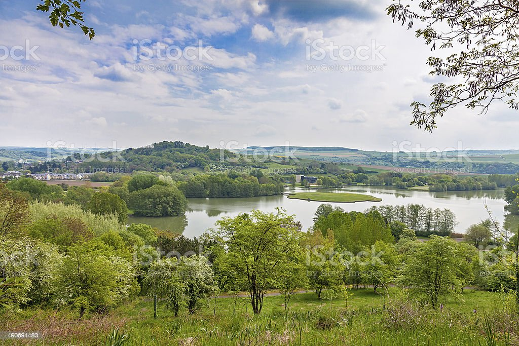 Lake Echternach stock photo