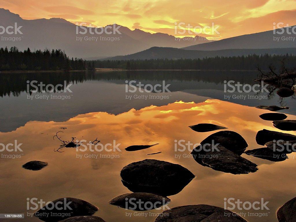 Lake Edith Sunrise stock photo