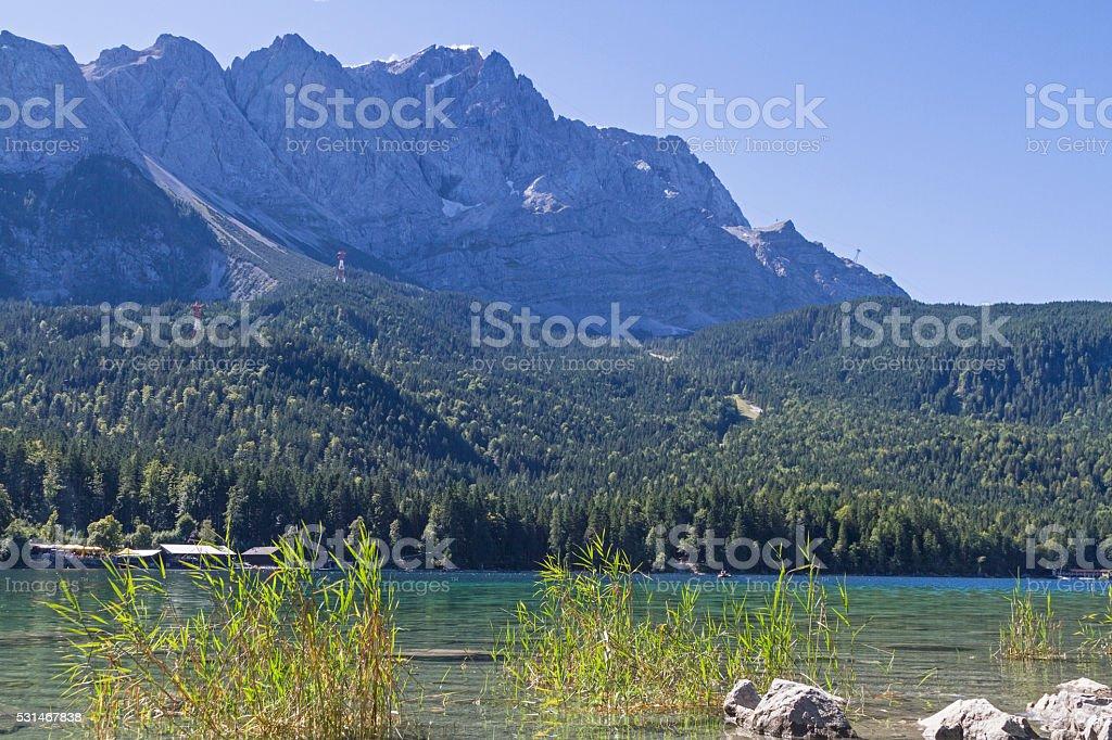 lake Eibsee stock photo