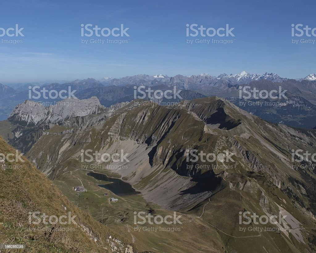 Lake Eissee and mountains royalty-free stock photo