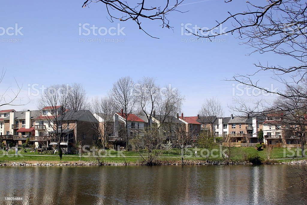 lake elkhorn townhouse stock photo