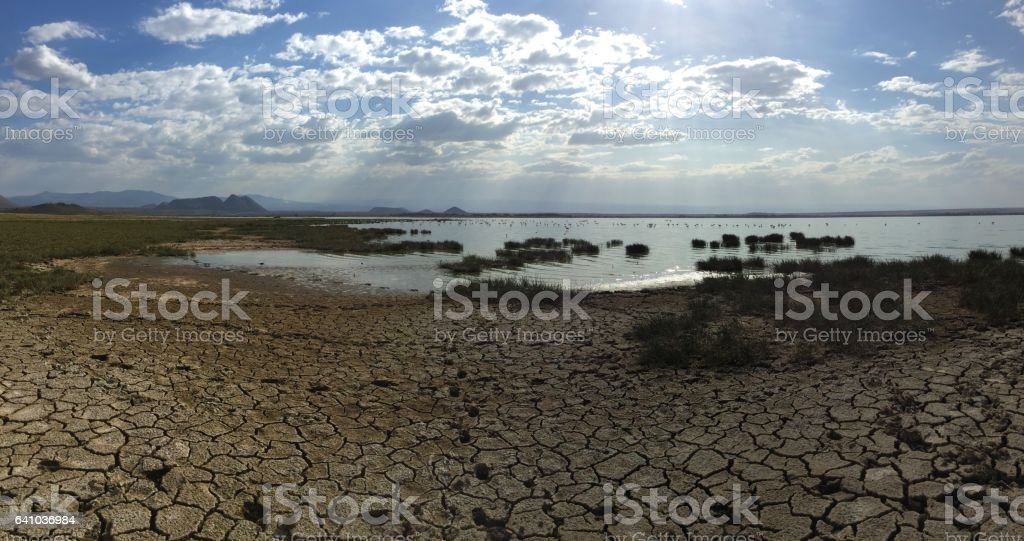 Lake Elmentetia stock photo