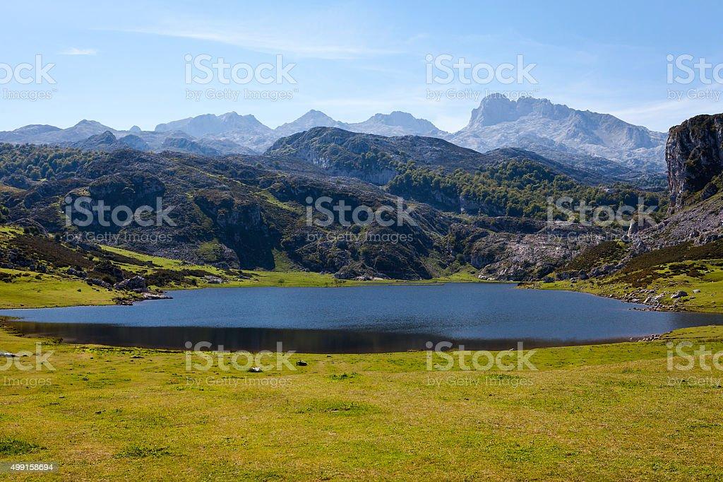 Lake Ercina stock photo