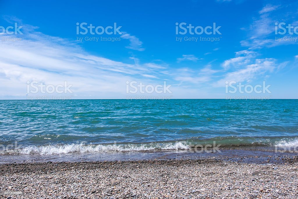 Lake Erie North Shore stock photo