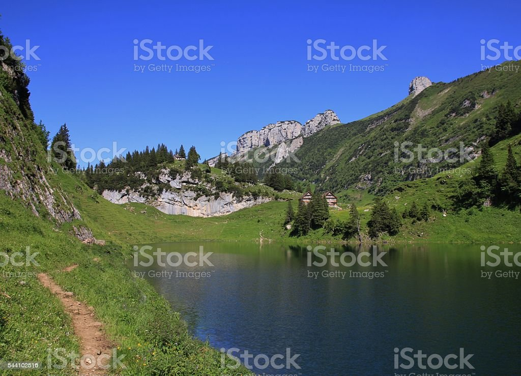 Lake Fahlensee, Appenzell Canton stock photo