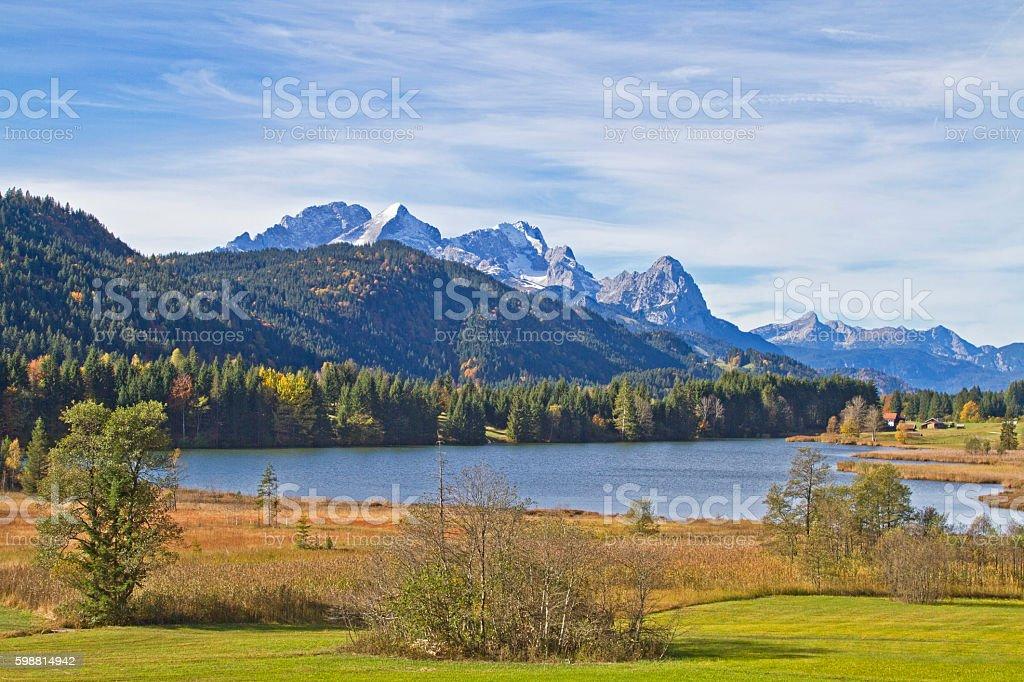 lake Ferchensee in Upper Bavaria stock photo